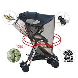 Per 2-in-1 Baby Stroller Anti-UV Sun Shade With Mosquito Net