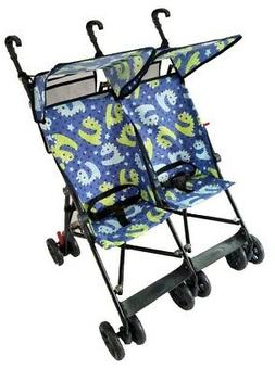 Amoroso 42182 blue Twin Umbrella Stroller Blue - Side by Sid