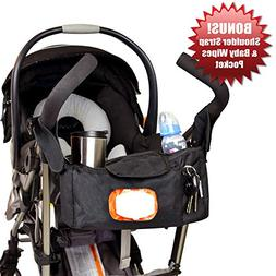 Angel Baby Premium Stroller Organizer with Cup Holders , Eas