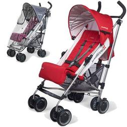 UPPAbaby - G-LUXE Stroller with Rain Shield - Denny Red Silv