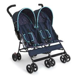Baby Stroller Double Twin Umbrella Kids Travel Side By Side