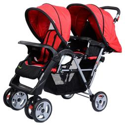 Baby Twin Stroller Travel System Kids Tandem Double Umbrella