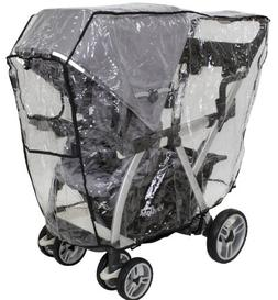 Joovy Caboose VaryLight Rain Cover, Black