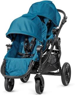 Baby Jogger City Select Twin Tandem Double Stroller Teal w/