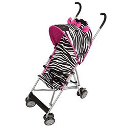 Cosco Comfort Height Character Umbrella Stroller, Pink Zebra