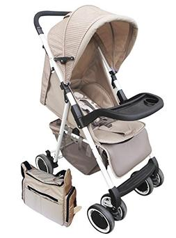 AmorosO Convenient Stroller with Diaper Bag, Brown