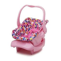 Doll Or Stuffed Toy Car Seat Pink Dot Comfort Comfortable Jo