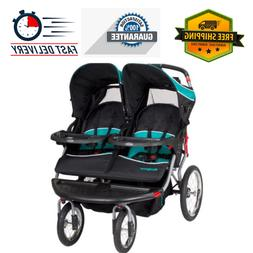 Double Jogger Stroller Side By Side Umbrella Pushchair Baby