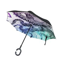 ALAZA Double Layer Inverted Octopus Umbrella Cars Reverse Wi