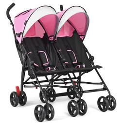 Double Stroller For Infant And Toddler Umbrella Side By Side