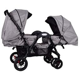 Costzon Double Stroller, Stroller with Sleep, Sit, Recline S