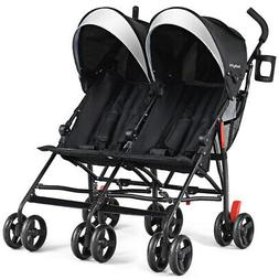 Foldable Two Baby Double lightweight Easy Compact Travel Str