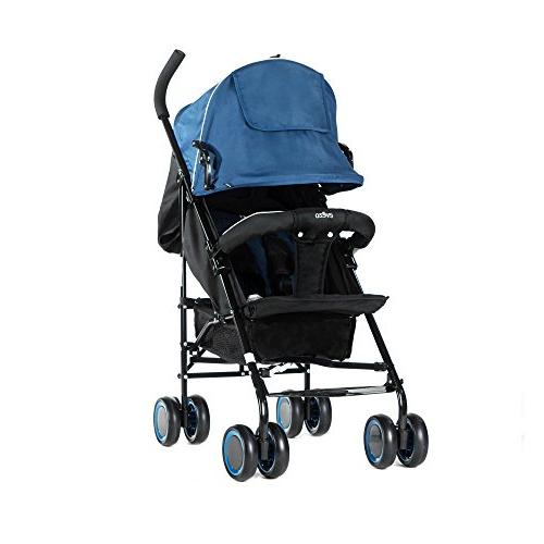 EVEZO 2141A Full-Size Ultra Lightweight Stroller, Seat, 5-Point Canopy,