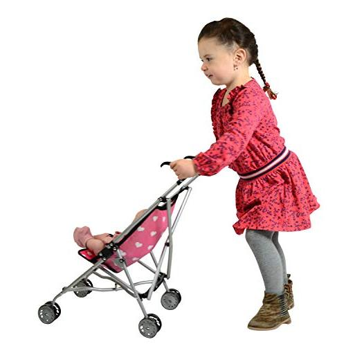 Hearts My First Stroller for Kids Super for Girls Stroller Folds for Storage Toddlers