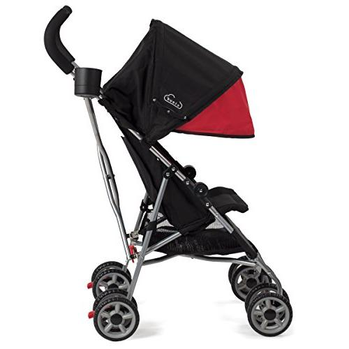 Kolcraft Cloud Stroller with Large Canopy, Scarlet Red