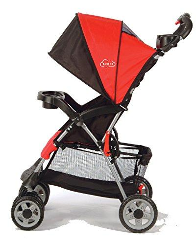 Kolcraft Cloud Lightweight Stroller 5-Point Seat, One Storage Parent Child Tray,