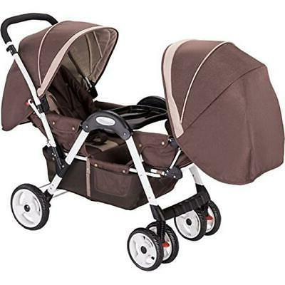 amor 45156brown deluxe double stroller