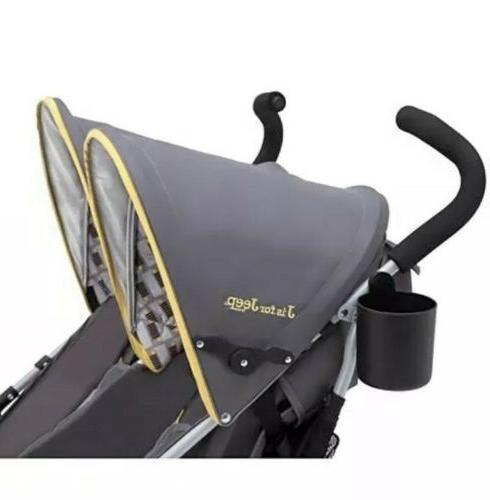 Jeep Baby Stroller Twin Canopy Recline Ship