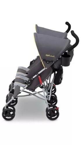 Jeep Stroller Twin Umbrella Canopy Lightweight Recline Ship