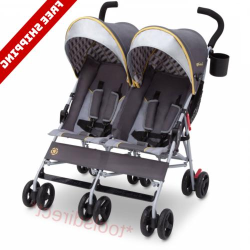 baby double stroller twin umbrella canopy lightweight