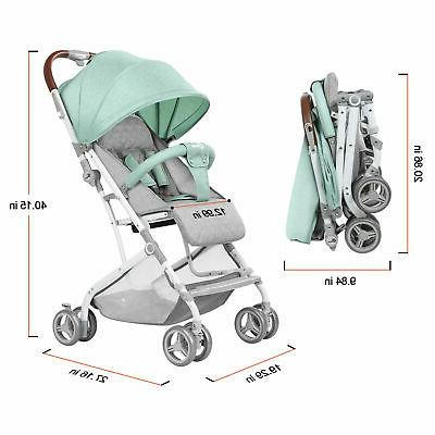 Baby Foldable Stroller Lightweight Carriage Pushchair New