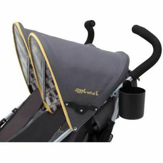 Baby Stroller Double Umbrella Kids Travel By Jeep