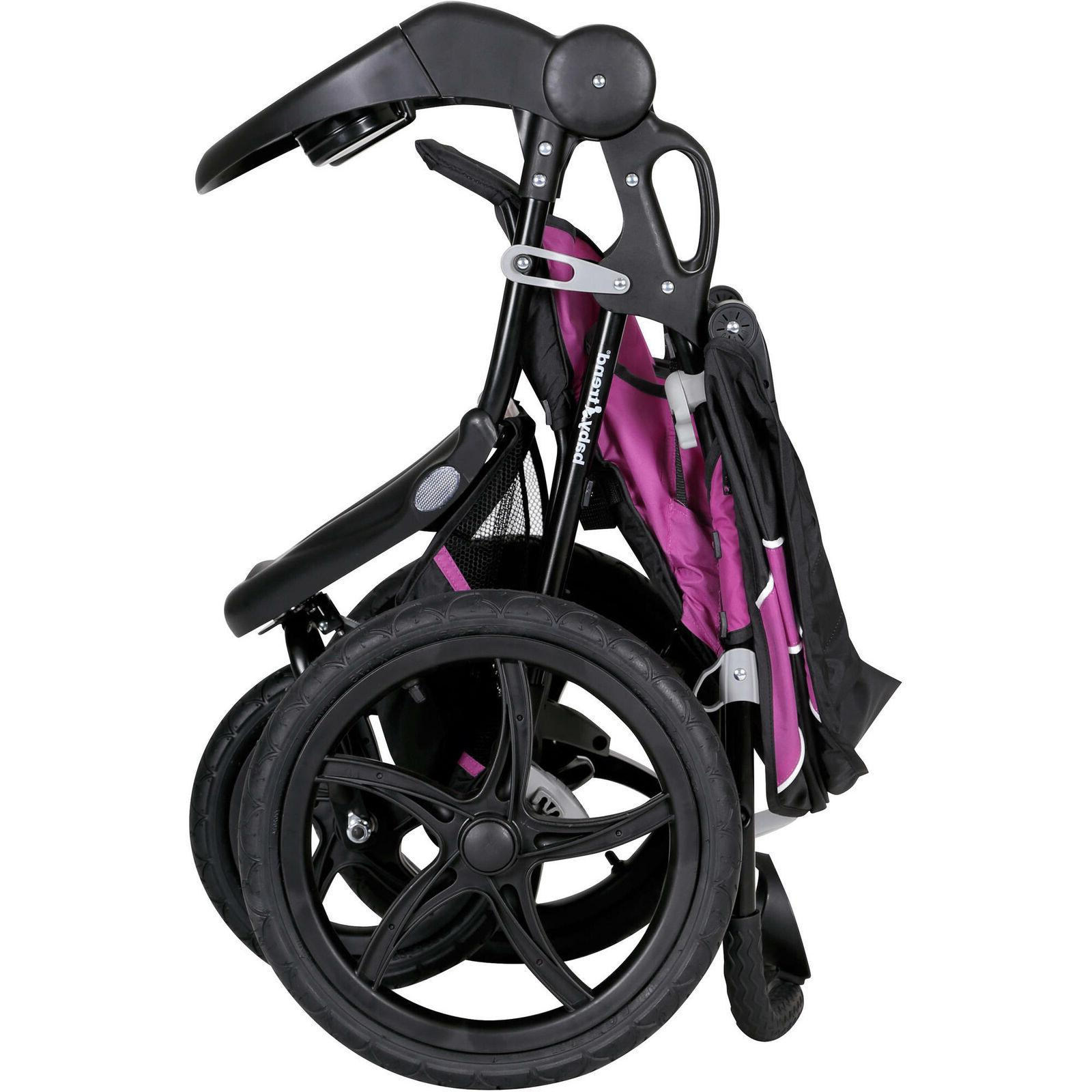 Baby xcel stroller, raspberry with Diaper Bag Value