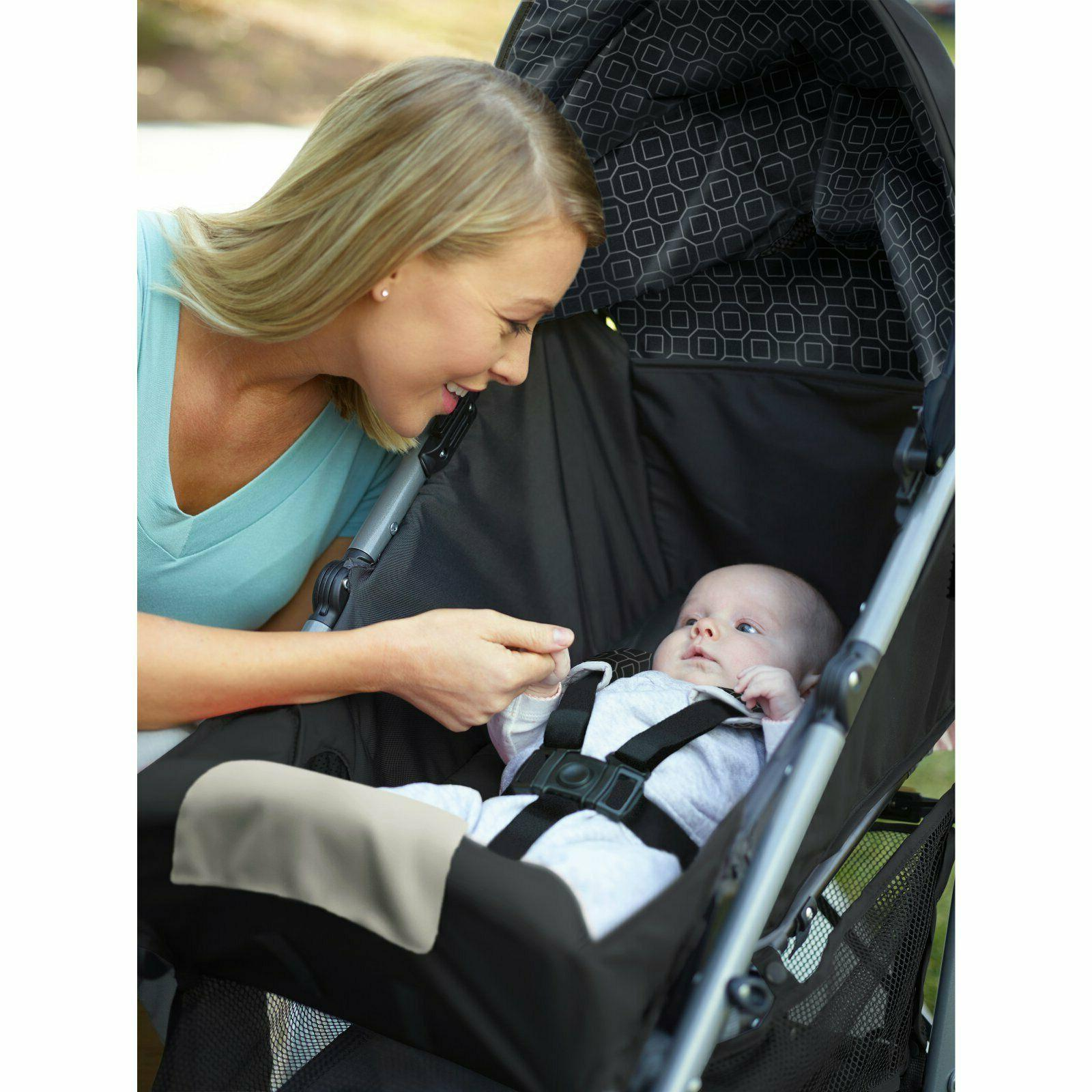 Black infant car toddlers