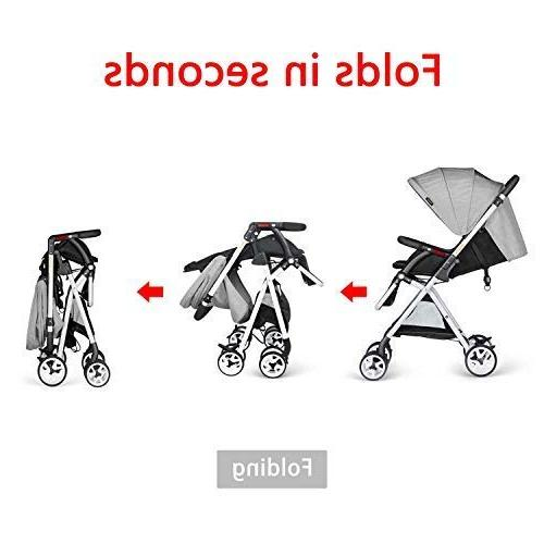 Besrey Foldable Baby Stroller Gray