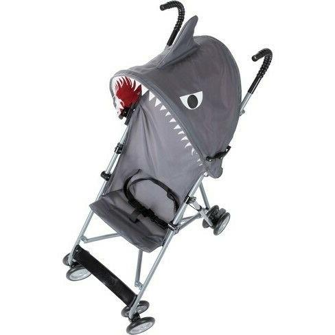 character umbrella stroller with canopy shark nib