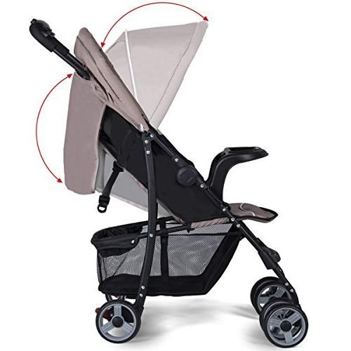 Costzon Stroller, Foldable Safety System and Multi Position Reclining