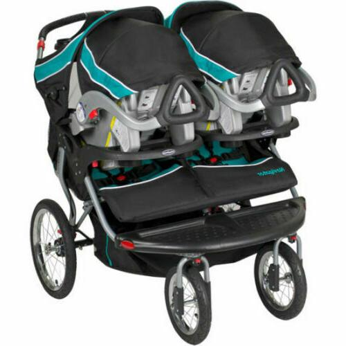 Double Jogger Stroller Side By Side Umbrella Baby Kids Trave