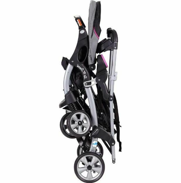 Double Stroller Toddler Sit Seat Harness Buggy Umbrella