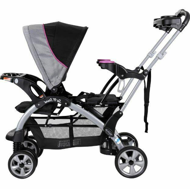 Double Toddler Sit Harness Buggy Umbrella