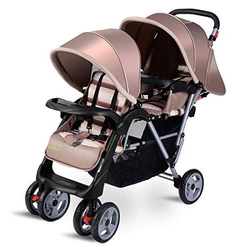 double stroller pushchair convenience twin