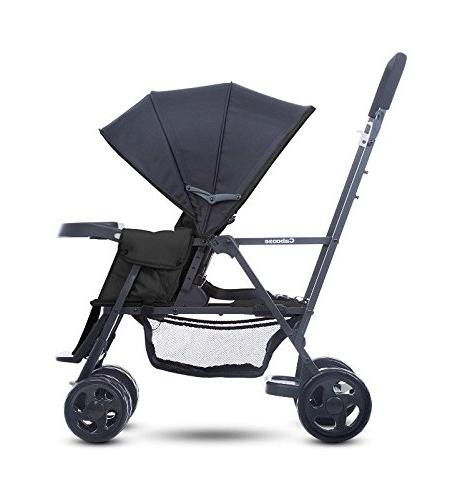 Premium Double Tandem Baby Strollers, Car Umbrella, Systems Ready, for 2, Toddlers and Color Free Strap-on Handy Hooks!