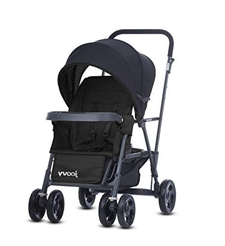 Premium Double Strollers, Car Umbrella, Travel Systems Ready, for 2, with Color 2 Free Strap-on Hooks!