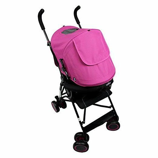 Evezo Stroller with Point Harness Multi-Color