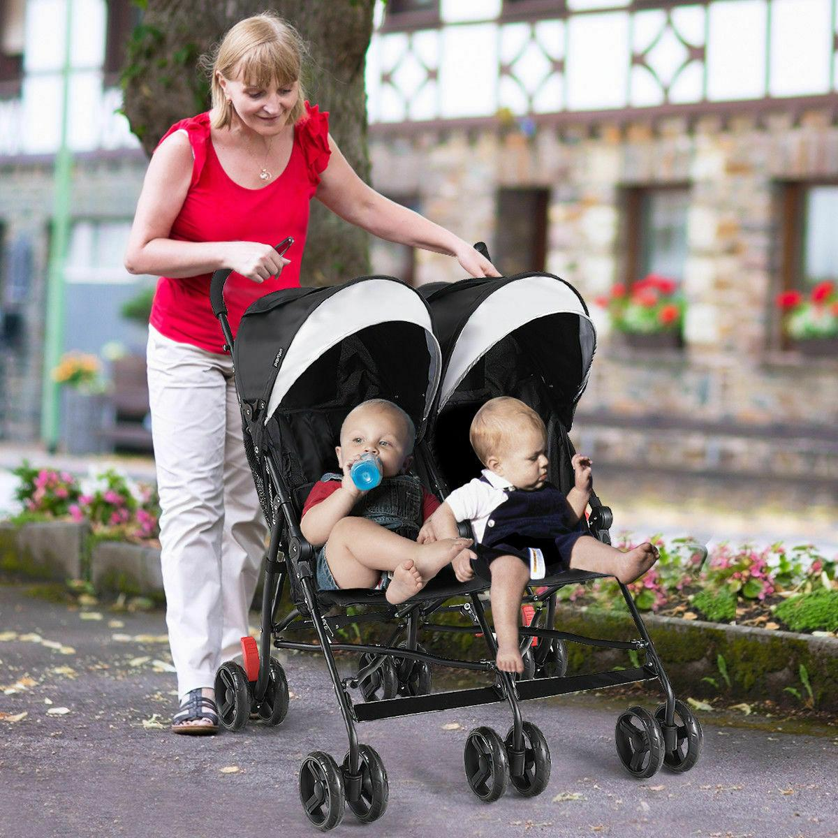 Foldable Double Stroller Kids Ultralight Stroller