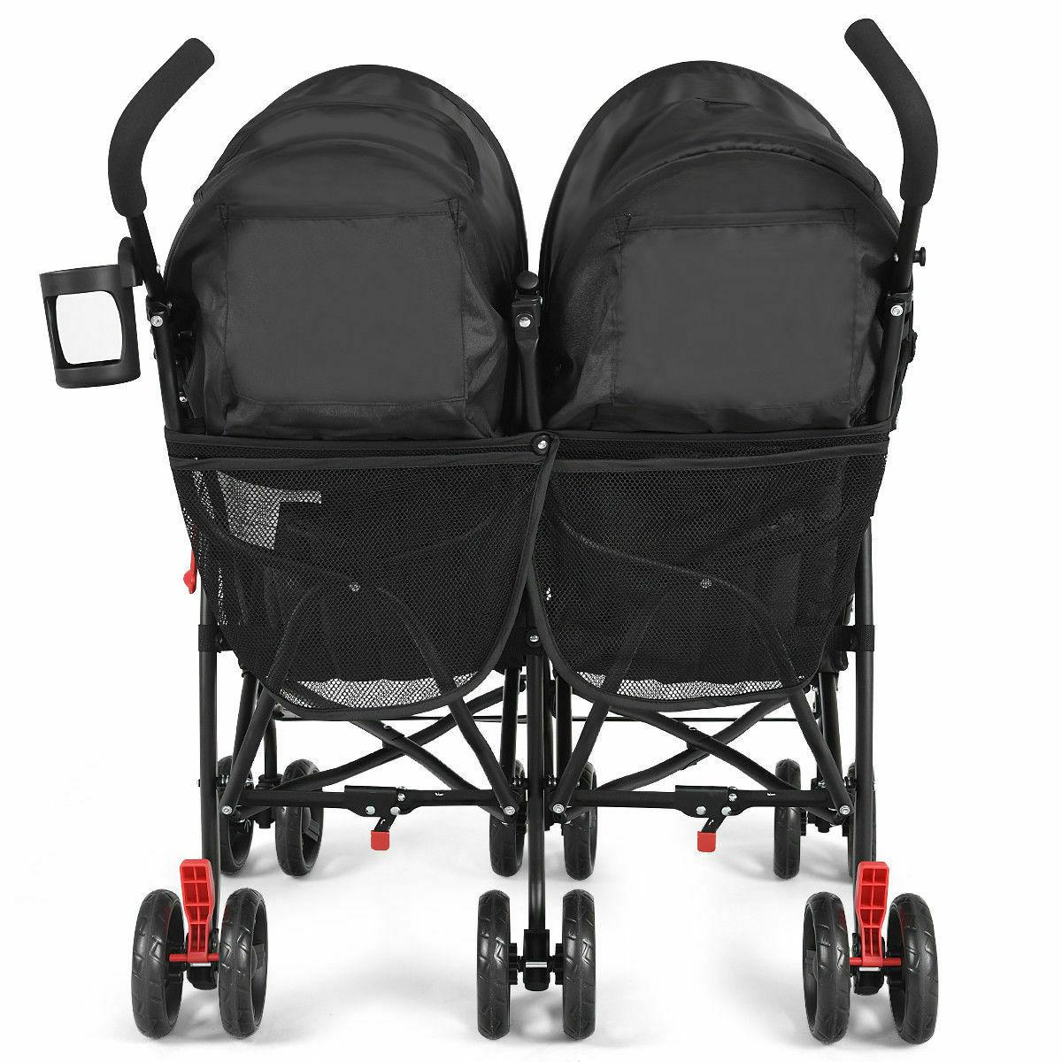 Foldable Double Stroller Ultralight Stroller Pushchair