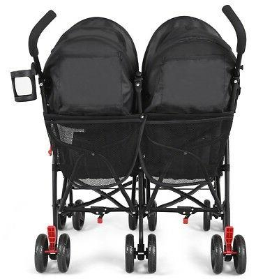 Twins Baby Double Stroller Ultralight Pushchair