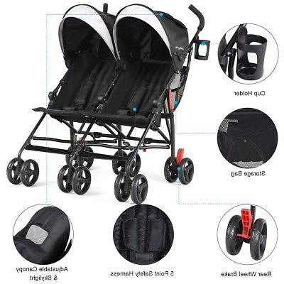 Twins Baby Ultralight Foldable Pushchair