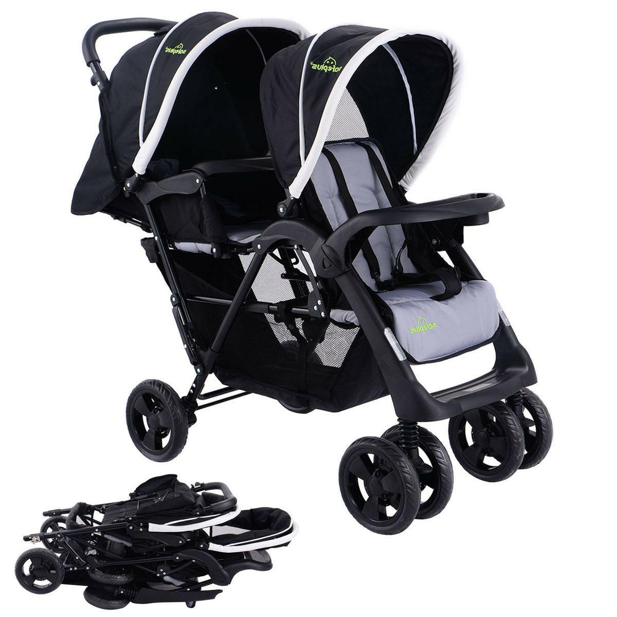 Costway Twin Double Stroller Jogger Travel
