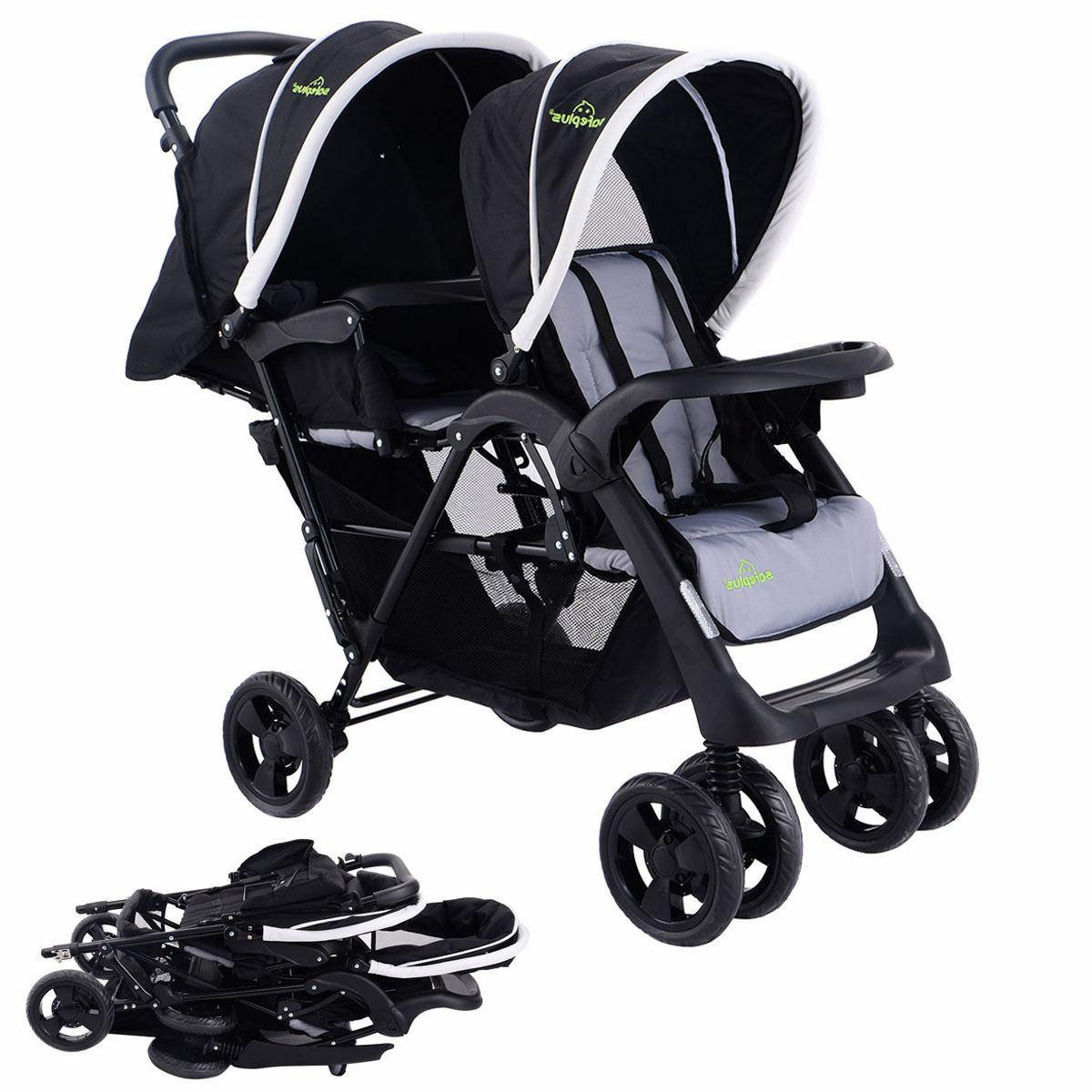 Costway Foldable Double Jogger Travel