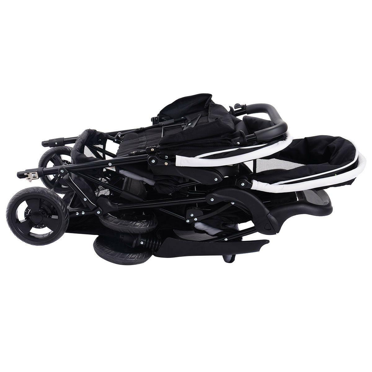 Costway Foldable Baby Double Travel