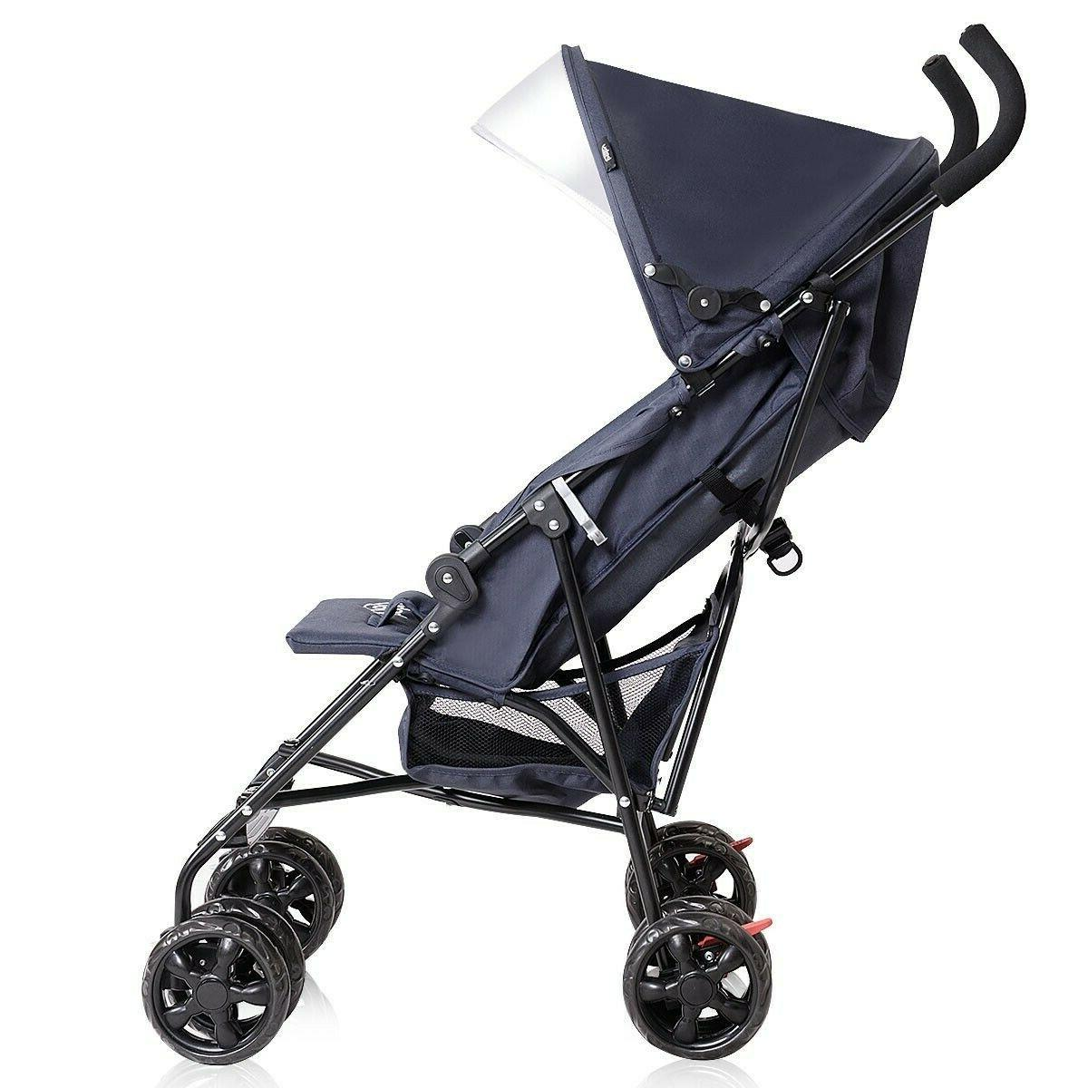 Lightweight Stroller Pushchair Umbrella Canopy