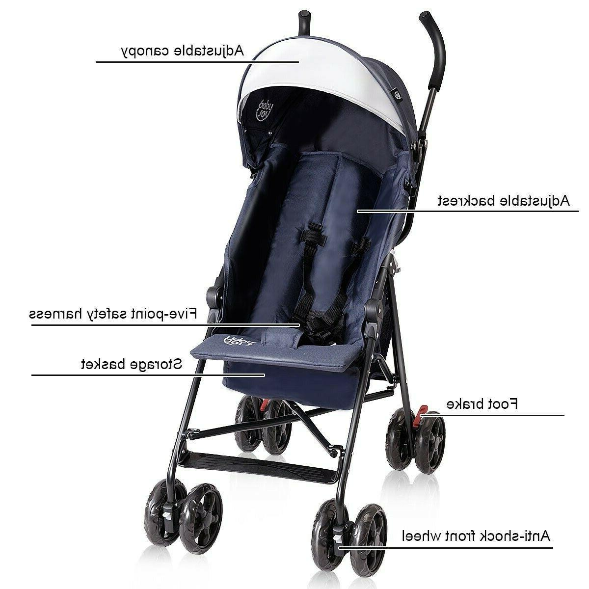 Lightweight Pushchair Toddler Umbrella Canopy