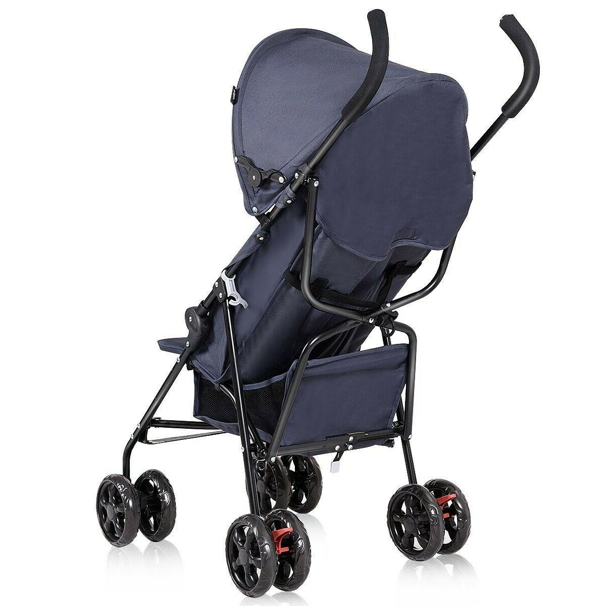 Lightweight Kids Stroller Travel Pushchair Canopy