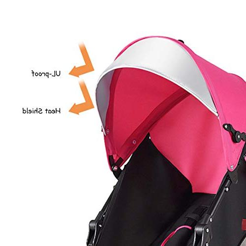 BABY JOY Lightweight Aluminum Baby Umbrella Convenience Stroller, Foldable with Oxford 5-Point Harness/Cup