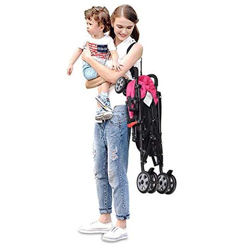 BABY JOY Aluminum Umbrella with Oxford 5-Point Harness/Cup